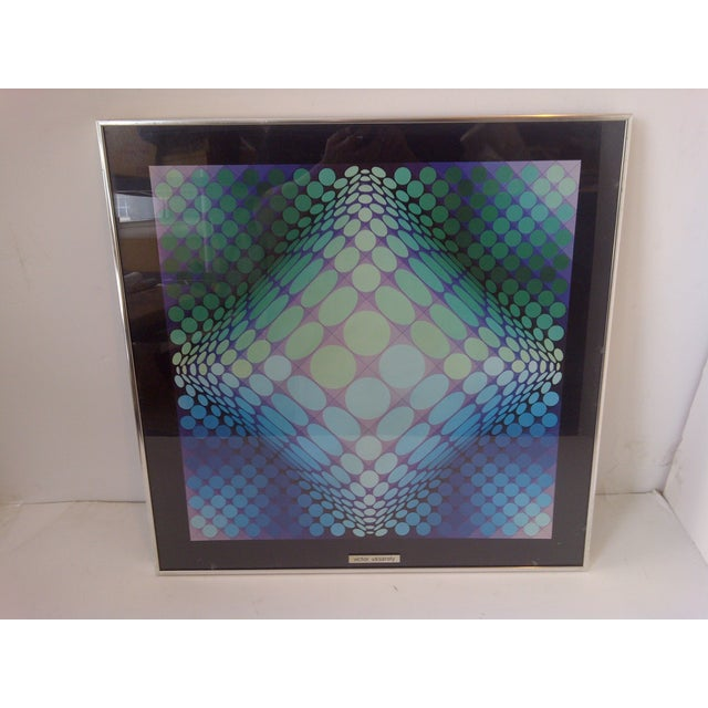 Modern Modern Geometric Print by Victor Vasarely, 1960 For Sale - Image 3 of 8