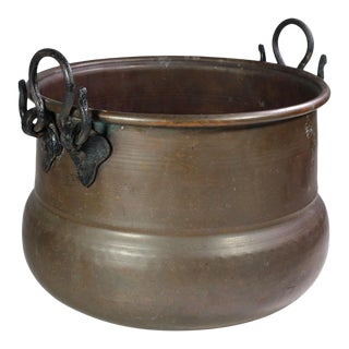 Antique Copper Cauldron For Sale