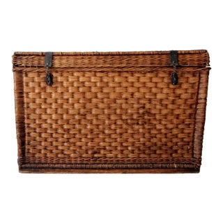Antique Wicker Trunk For Sale