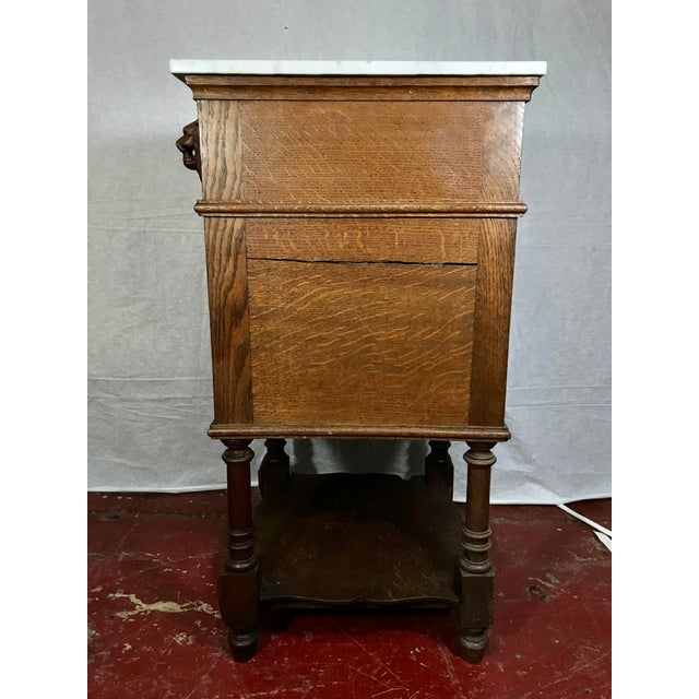 Traditional Pair of Oak Belgian 19th Century Side Tables For Sale - Image 3 of 13