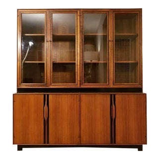 John Kapel Walnut Credenza & Hutch for Glenn of California For Sale