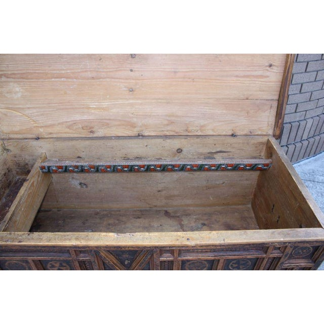 A Rustic Swiss Baroque Coffer or Dowry Chest For Sale In San Francisco - Image 6 of 7