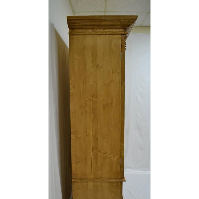 Traditional Pine Linen Press For Sale - Image 3 of 10