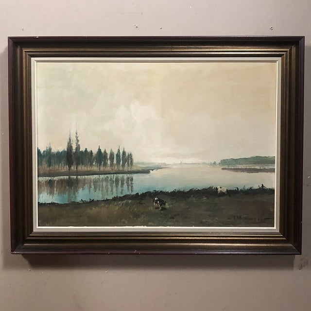 Antique Framed Oil Painting on Canvas by Pauwels For Sale - Image 4 of 12