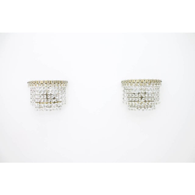 1960s One of Four Wall Sconces by Bakalowits Austria Crystal Glass 1960s For Sale - Image 5 of 5