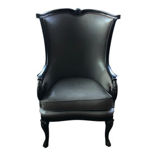 Modern Hand Crafted Wing Chair For Sale