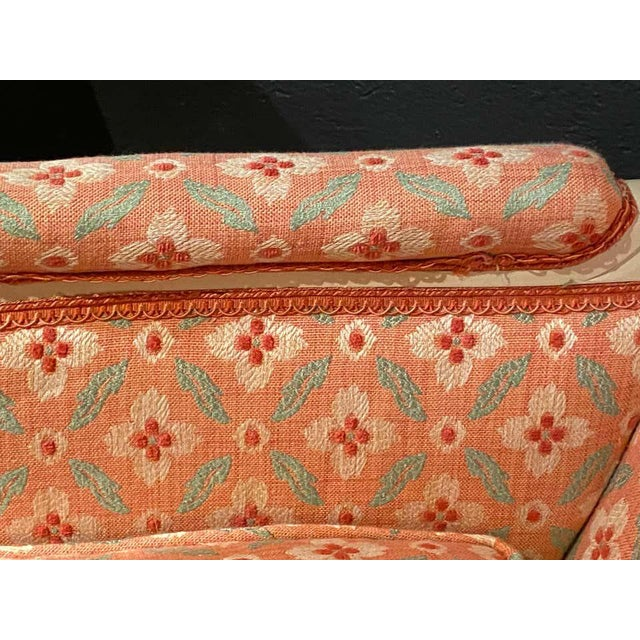 Louis XVI Painted Bergère or Lounge Chairs, Scalamandre Upholstery - a Pair For Sale - Image 9 of 13