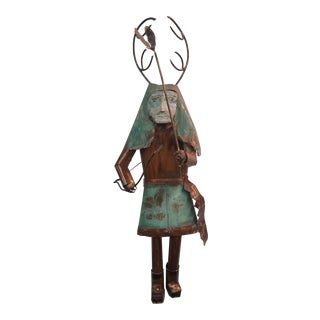 Deer Hunter Metal Kachina Wall Sculpture