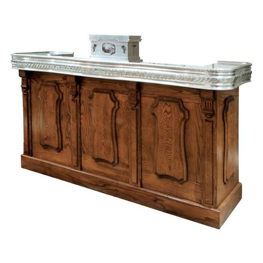 2010s French Oak Bar For Sale - Image 5 of 5