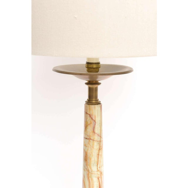 Mid-Century Onyx and Bronze Lamps - a Pair For Sale - Image 9 of 12