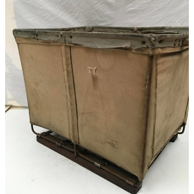 Animal Skin Vintage McElmoyl Industrial Canvas Laundry Basket For Sale - Image 7 of 11
