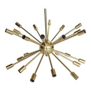 Mid-Century 24-Arm Brass Sputnik Chandelier