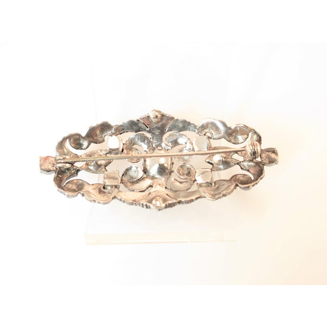 Edwardian Hand-Wrought Sterling & French Paste Brooch1905 For Sale - Image 10 of 11