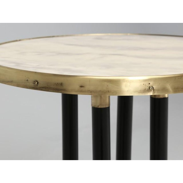 Antique French Empire Side Table Ebonized For Sale - Image 10 of 13