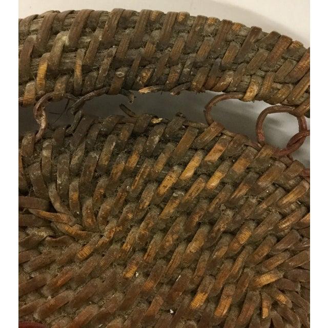 1930s Boho Chic Lidded Teardrop Shaped Basket For Sale - Image 11 of 13