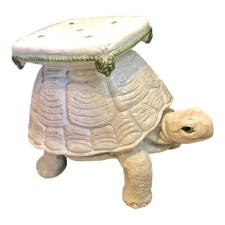 Vintage Italian Terracotta Large Turtle Stool or Drinks Table For Sale