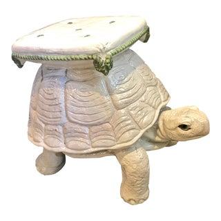 Vintage Italian Terracotta Large Turtle Stool or Drinks Table For Sale