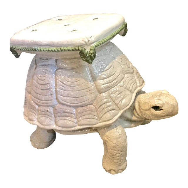 a2a0de7de9c Vintage Italian Terracotta Large Turtle Stool or Drinks Table For Sale