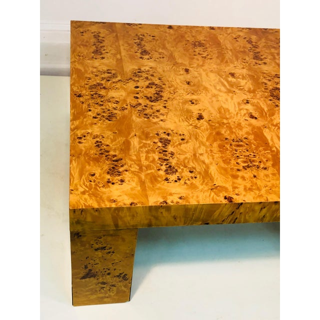 1980s Exceptional Burl Wood Table For Sale - Image 5 of 8