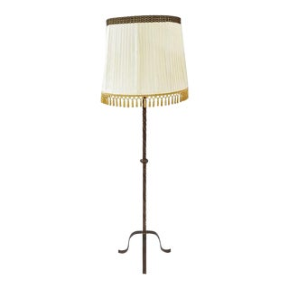 Vintage French Wrought Iron Lighting Floor Lamp For Sale