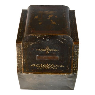 Early 20th Century Antique Hand-Painted General Store Spice Bin For Sale