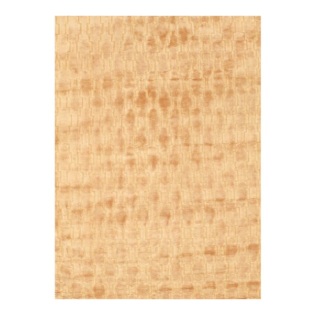 Pasargad NY Modern Hand Knotted Silk Rug - 4′3″ × 5′11″ For Sale