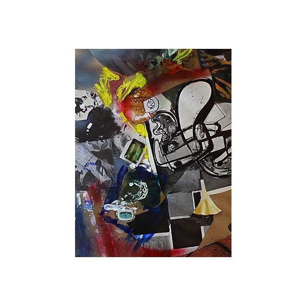 Modern Art Abstract Collage For Sale - Image 4 of 5