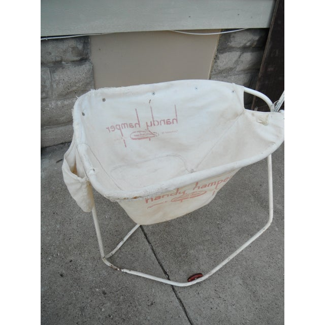Vintage 1930s Industrial Laundry Cart - Image 3 of 5
