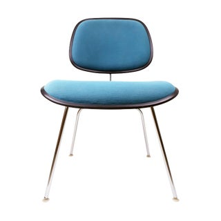Vintage Teal Upholstered Dcm Chairs by Eames for Herman Miller For Sale