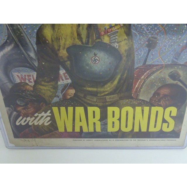 Vintage WWII War Bonds Poster For Sale - Image 4 of 8