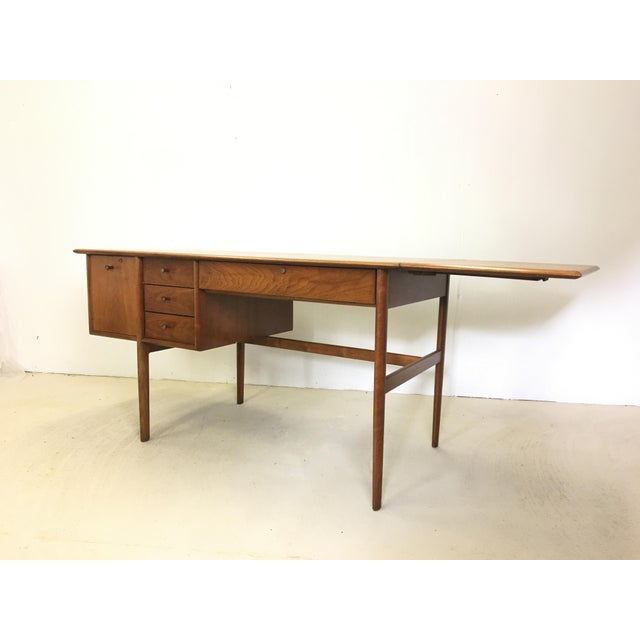 This gorgeous writing desk was designed by Barney Flagg for Drexel's Parallel line and manufactured in the United States...