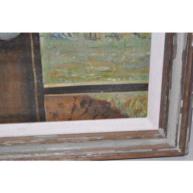 "Stephen Etnier (American, 1903-1984) ""Studio Window"" Original Oil Painting C.1932 For Sale In San Francisco - Image 6 of 10"