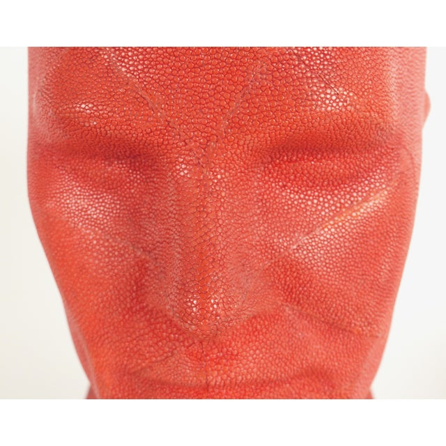 Serge De Troyer Shagreen Head Sculpture For Sale In Miami - Image 6 of 10