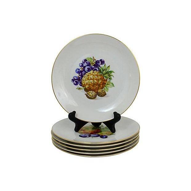 Traditional Vintage Dessert Plates- Set of 6 For Sale - Image 3 of 9