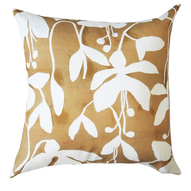 Goldenrod Fuchsia Pillow Cover by Kate Roebuck For Sale