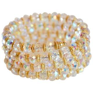 Francoise Montague Clear Memory Wire Wrap Bracelet For Sale