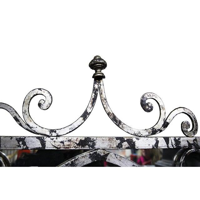Mirror - Silvertone Arched Mirror - Image 4 of 4