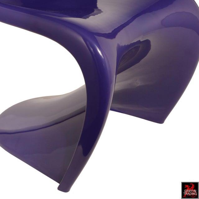 Purple Purple Verner Panton S-Chair Fehlbaum Production For Sale - Image 8 of 11
