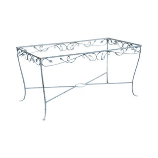 Salterini Vintage Wrought Iron Garden Patio Dining Table Base For Sale