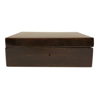 Satinwood Binding French Mahogany Box For Sale