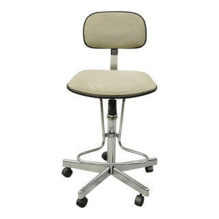 20th Century Industrial Northfield Metal Drafting Artist Work Stool Swivel Chair For Sale
