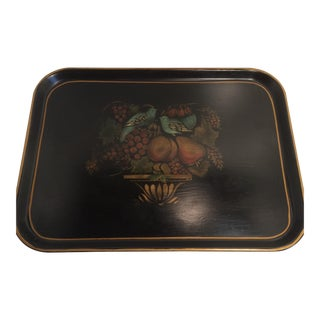 Tole Painted Melamine Serving Tray by KYS-ITE For Sale