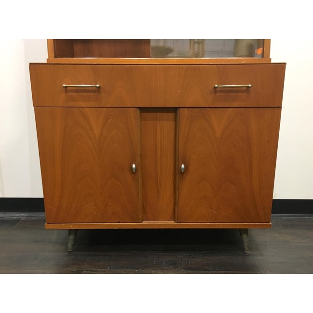 Mid Century Modern Craddock China Cabinet Hutch For Sale - Image 4 of 12