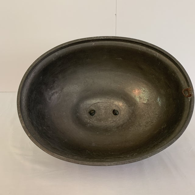 Late 19th Century Antique Pewter Meat Covers- A Pair For Sale - Image 10 of 13