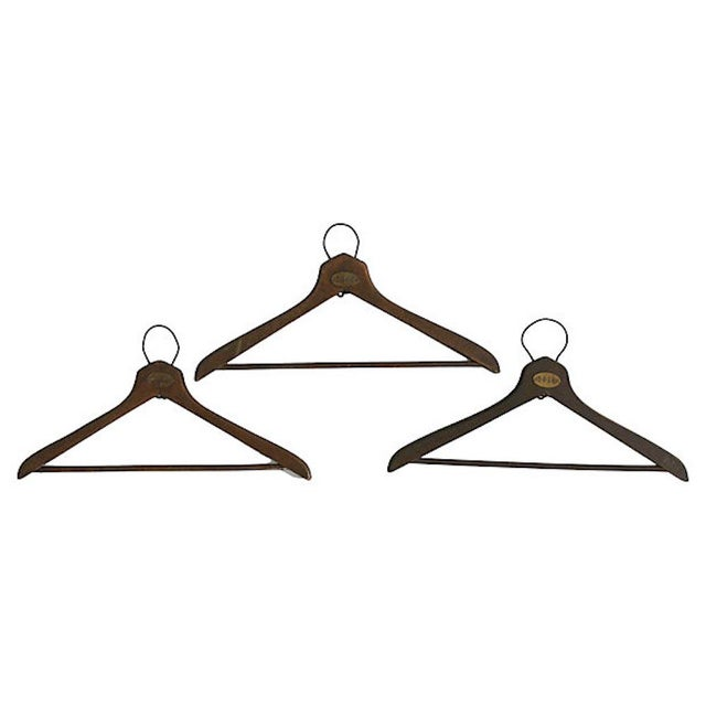 1930s Coat Check Numbered Hangers, Set of 6 For Sale - Image 4 of 6