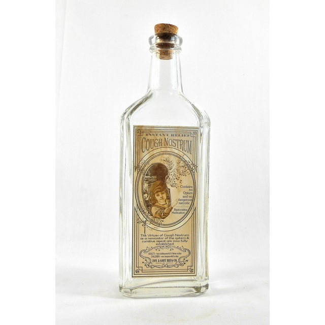 Vintage Style Cough Nostrum Remedy Bottle - Image 2 of 5