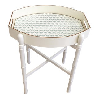 Ellipse Tray Table in Off-White For Sale