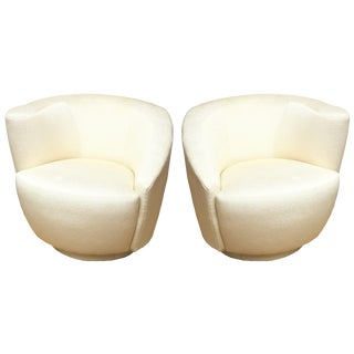 "1970s Vintage Vladimir Kagan"" Nautilus"" Swivel Lounge Chairs- A Pair For Sale"