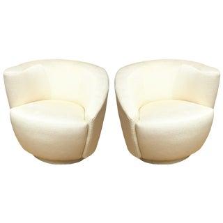 """Vladimir Kagan"""" Nautilus"""" Swivel Lounge ChairsA Pair For Sale"""
