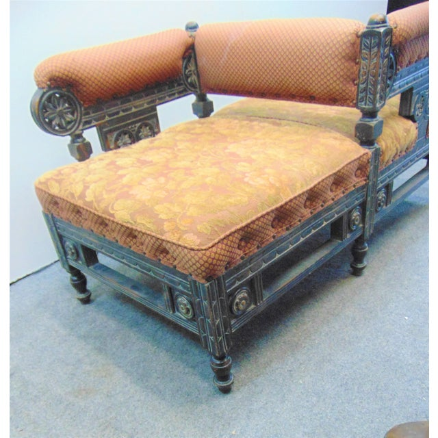 Victorian Eastlake Style Tete A' Tete Settee For Sale - Image 4 of 9